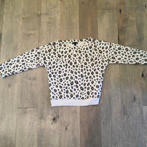 J Crew Leopard Print Boatneck Sweatshirt